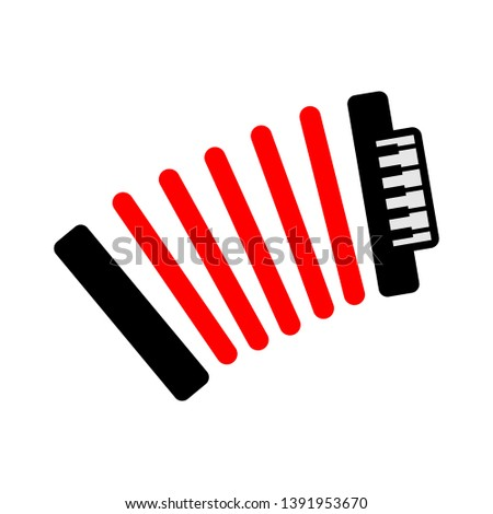 traditional musical instrument. vector accordion illustration isolated - sound music equipment