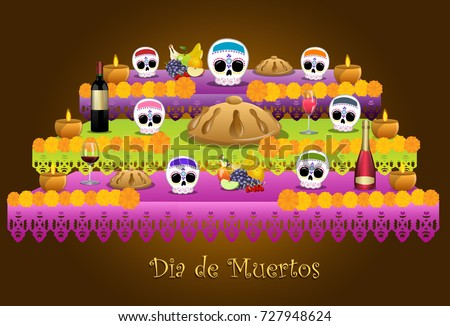 Shutterstock traditional offering represented the day of the dead in Mexican customs