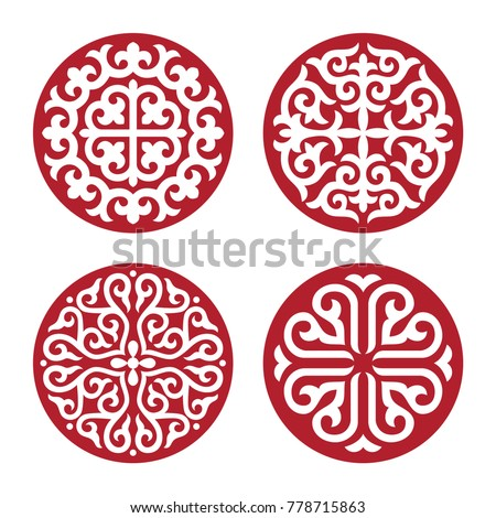 traditional ornament of asian