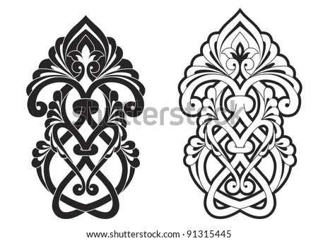 Traditional Ottoman motif vector illustration