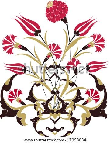 Traditional ottoman turkey turkish vintage tile design