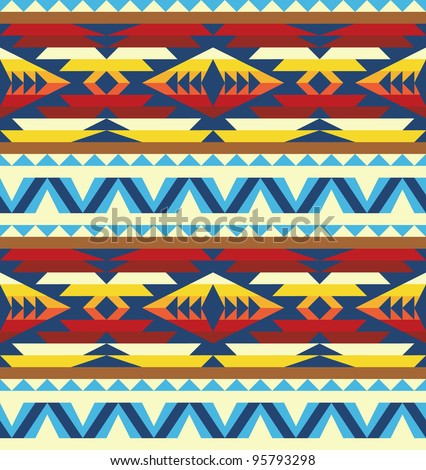 Traditional pattern of native american