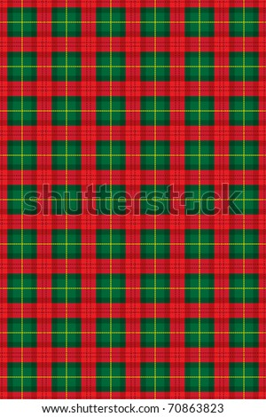 Traditional scottish checked material, vector illustration