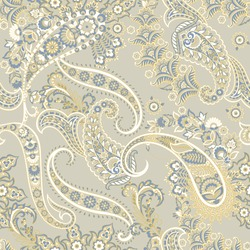 Traditional seamless paisley pattern. Indian floral ornament.