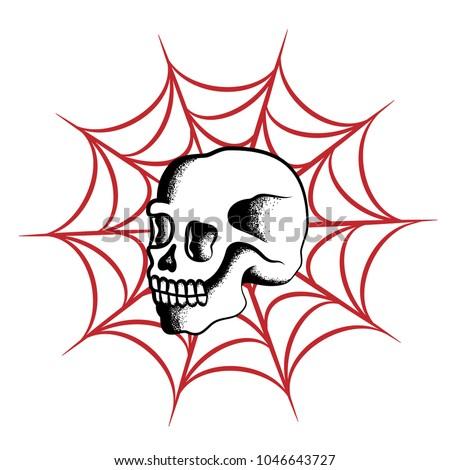 traditional skull tatto design