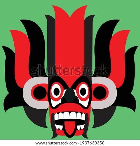 Traditional Sri Lankan Devil Mask, Yaka Face Stok fotoğraf ©
