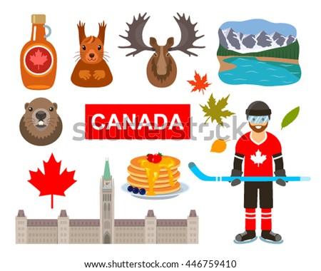 Royalty Free Canada Icon Vector Doodle Set 222135769 Stock Photo