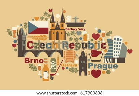 Prague Landmark Tyn Church Vector Illustration Download Free