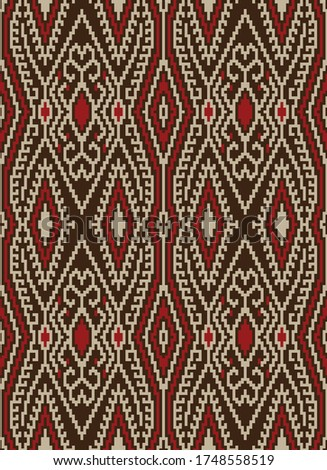 Traditional T'nalak Pattern of the T'boli Tribe from the Philippines