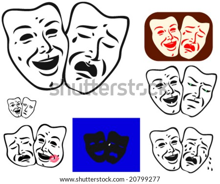 traditional theatrical masks