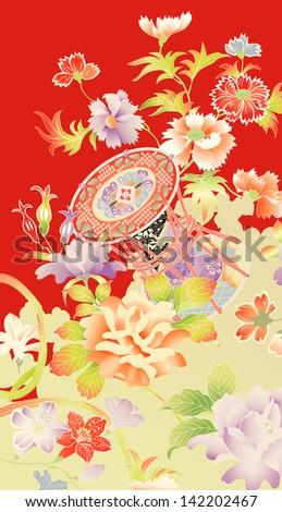 traditional vintage kimono