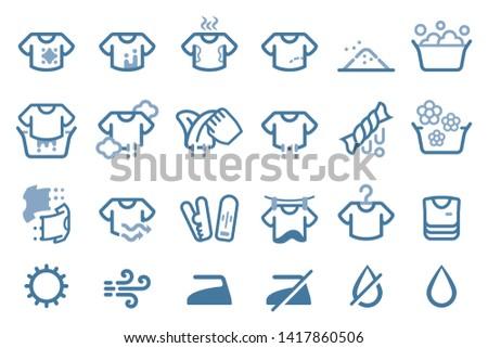 traditional washing t-shirt by hand. Basic Laundry.