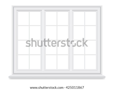traditional white window