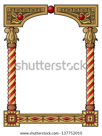 traditional wood carved frame...