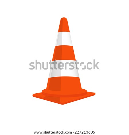 Traffic cone, traffic cone isolated, traffic cone vector, orange traffic cones