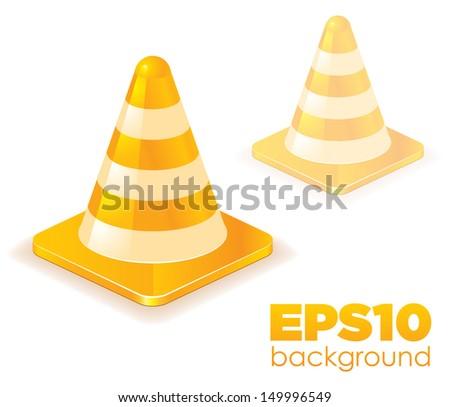 Traffic cones. Vector illustration.
