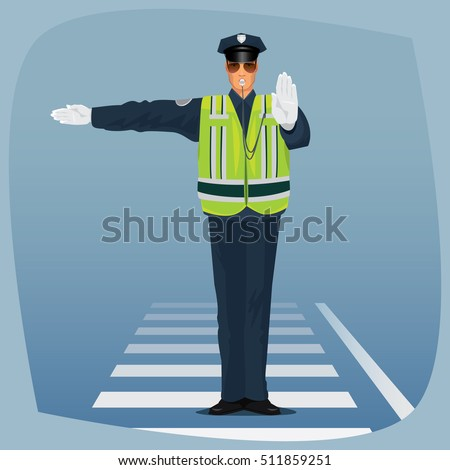 traffic cop  officer of traffic