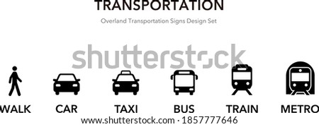 traffic icons for land vehicles