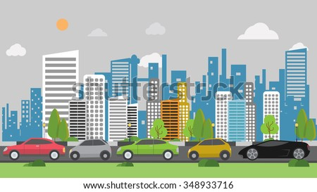 traffic jam background