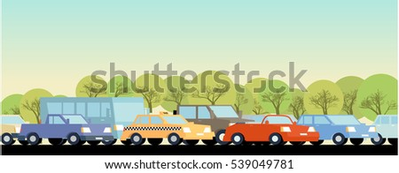 traffic jam background global