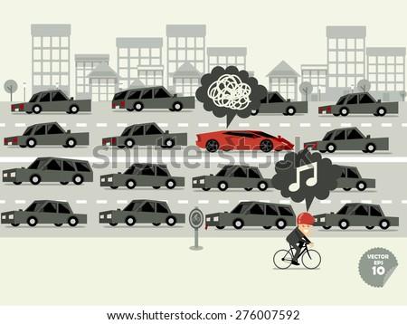 traffic jam concept super car