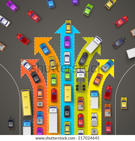 traffic jam with directional