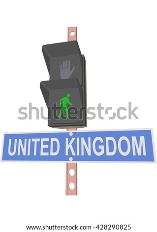 traffic light and a sign with