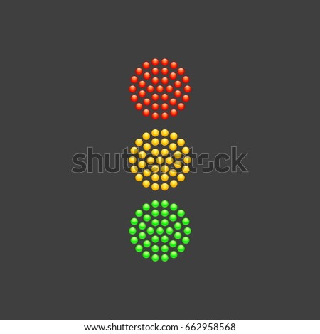 traffic light from red  yellow