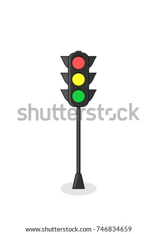traffic light icon isolated on