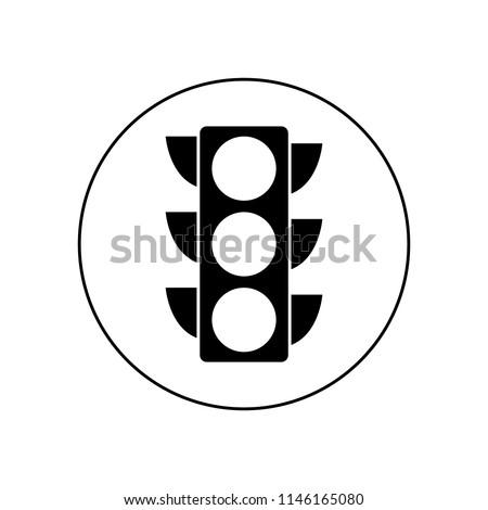 Traffic light icon, logo