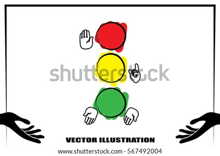 traffic light icon vector illustration eps10.
