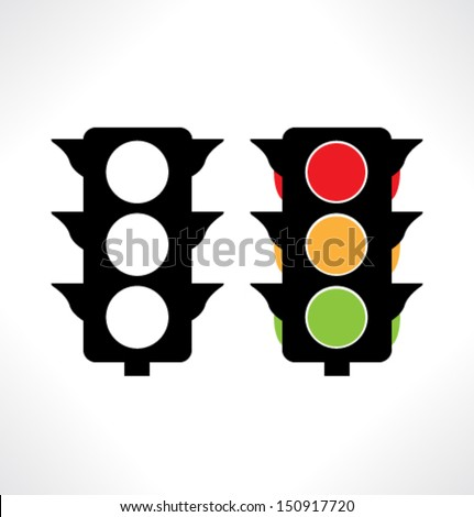 Traffic Icon Vector Traffic Light Icons Vector