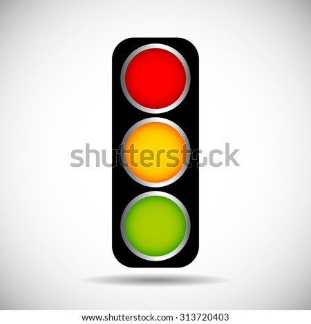 traffic light isolated vector