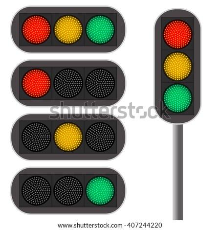 traffic light led backlight