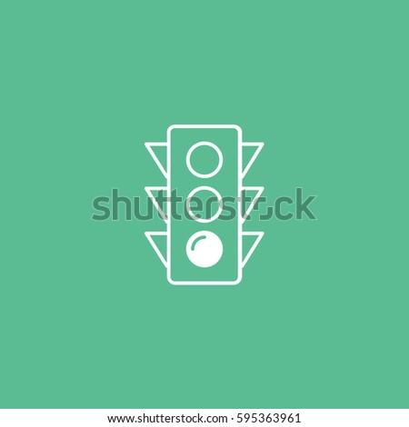 traffic light line icon on