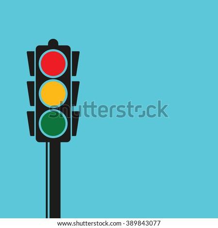 traffic light pole  vector