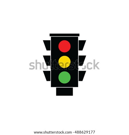 Traffic light signal. Traffic light icon vector