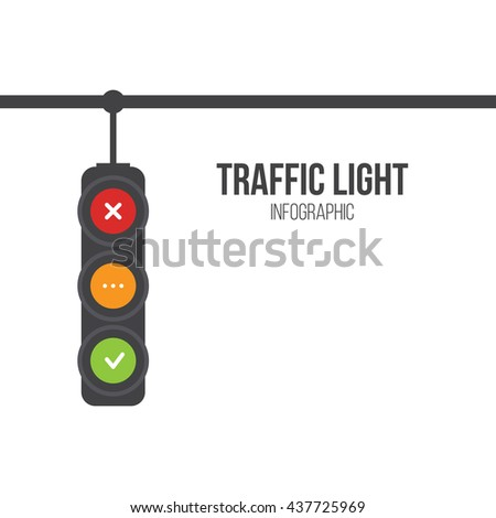 traffic light signals flat