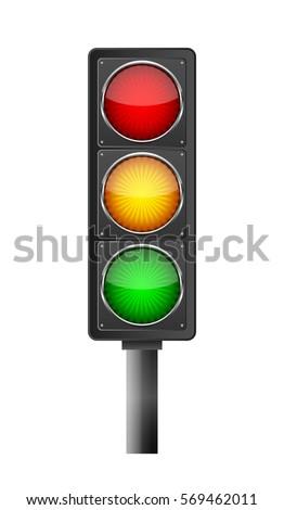 traffic light symbol on light