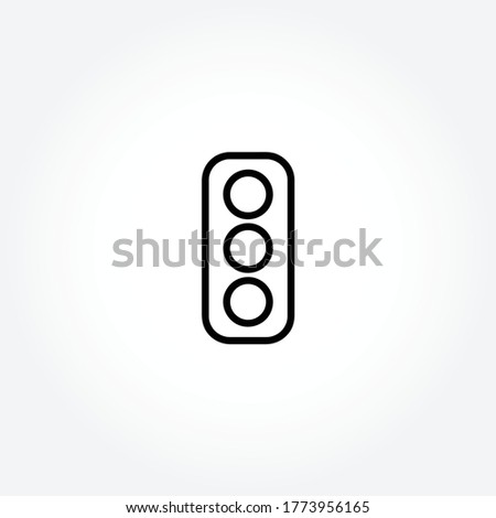 traffic lights isolated line icon for web and mobile