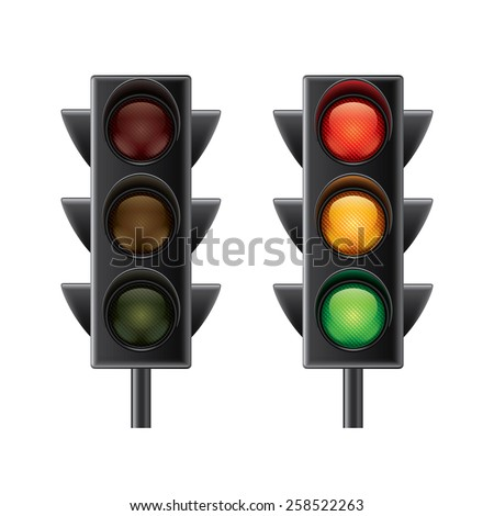 traffic lights isolated on