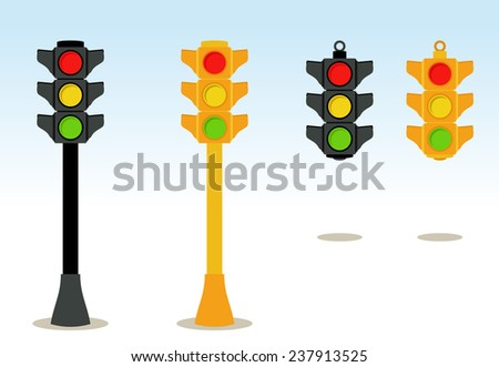 traffic lights set in floor and