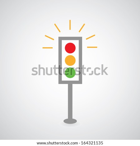 traffic lights symbol on gray