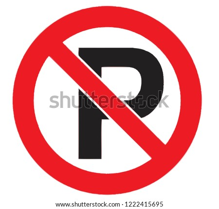 traffic parking ban sign