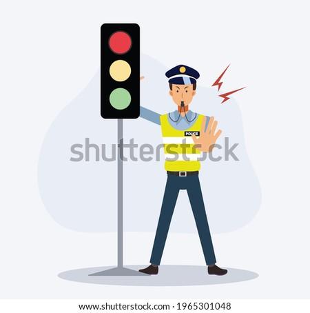 traffic police near the traffic