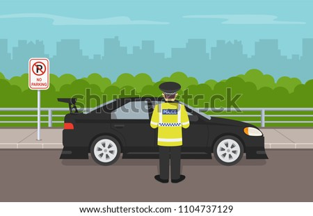 traffic police officer writing
