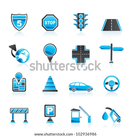 Traffic Icon Traffic Road And Travel Icons