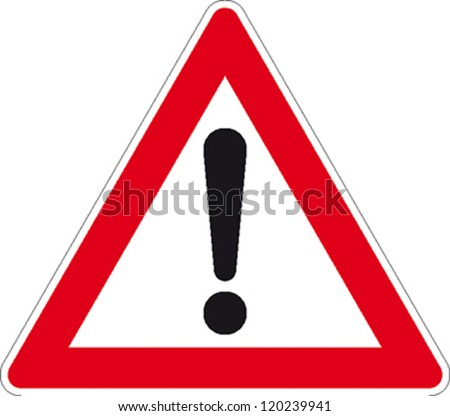 traffic sign attention - stock vector