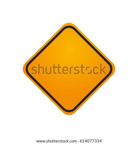 traffic sign danger warning blank #614077334