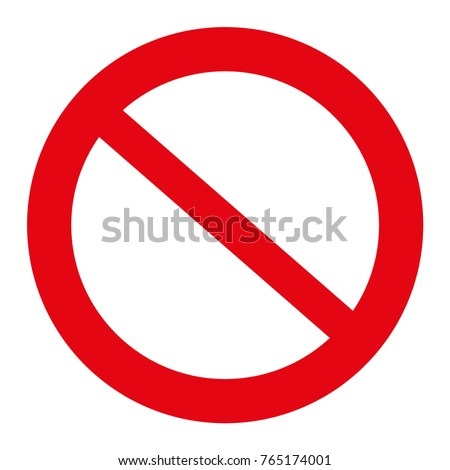 Traffic sign illustration, Not Allowed Sign, isolated on the white, illustration vector Stockfoto ©